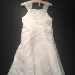 US Angels Bridal Party Flower Girl Dress Size 12X